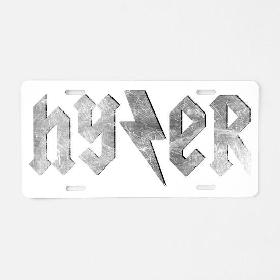 Metal Hyzer - Disc Golf Aluminum License Plate