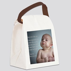 just do the best you can 8 x 10 Canvas Lunch Bag