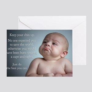 just do the best you can 8 x 10 Greeting Card