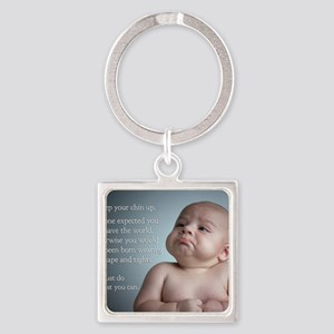 just do the best you can 8 x 10 Square Keychain