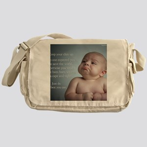 just do the best you can 8 x 10 Messenger Bag