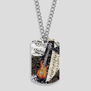bass-guitar-ornament Dog Tags