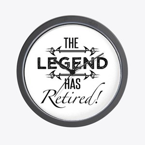 The Legend Has Retired Wall Clock