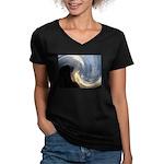 Camp Sunset 3 Women's V-Neck Dark T-Shirt