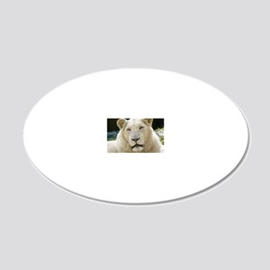 blonde lion travel 20x12 Oval Wall Decal