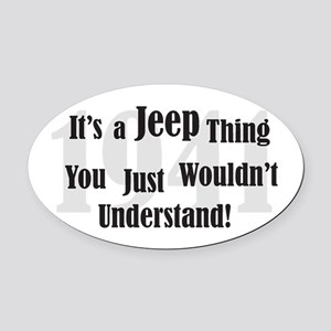 Jeep-2 Oval Car Magnet