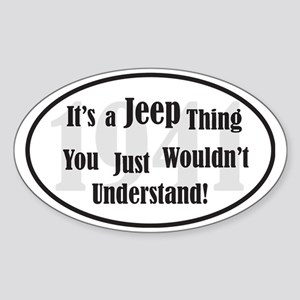 Jeep-2 Sticker (Oval)