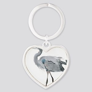 heron Heart Keychain