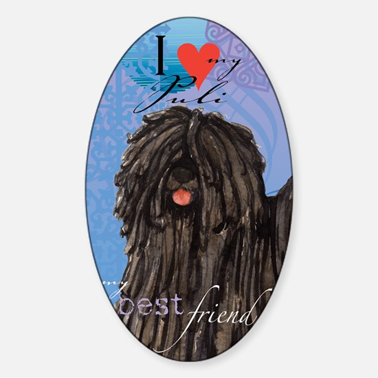 puli-kindle Sticker (Oval)