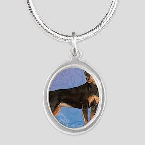 minpin-key1 back Silver Oval Necklace