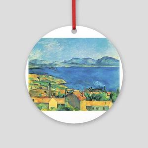 Bay of Marseille - Paul Cezanne - c1885 Round Orna