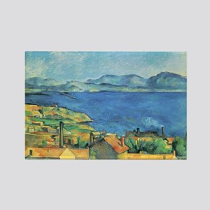 Bay of Marseille - Paul Cezanne - c1885 Magnets