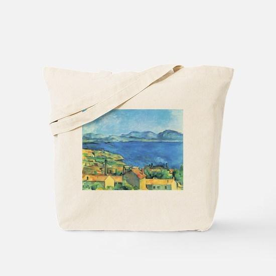 Bay of Marseille - Paul Cezanne - c1885 Tote Bag