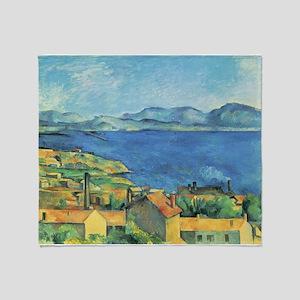 Bay of Marseille - Paul Cezanne - c1885 Throw Blan