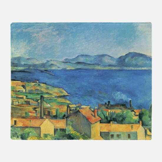 Bay of Marseille - Paul Cezanne - c1885 Throw Blan