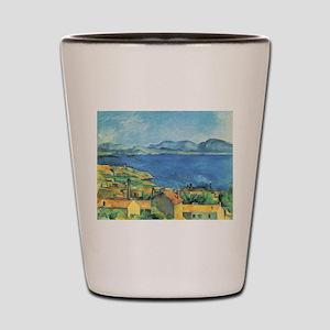 Bay of Marseille - Paul Cezanne - c1885 Shot Glass