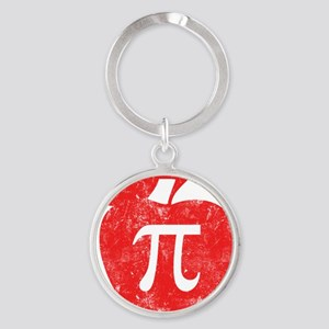 apple pie red Round Keychain