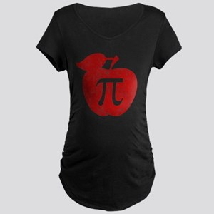 apple pie red bl Maternity Dark T-Shirt