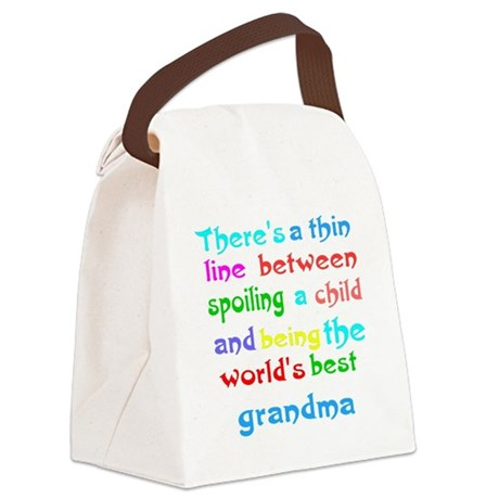Funny grandma Canvas Lunch Bag