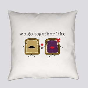 We go Together Like PB&J Everyday Pillow