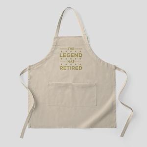 The Legend Has Retired Light Apron