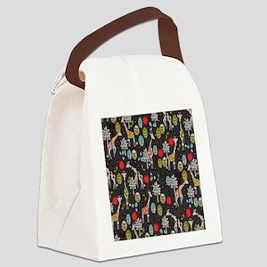 Giraffe Garden Canvas Lunch Bag