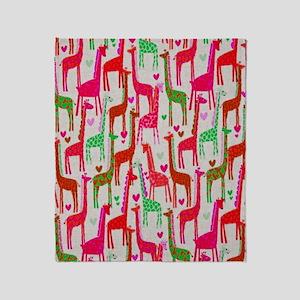 Giraffe Love copy Throw Blanket
