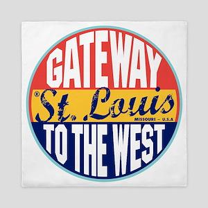St Louis Vintage Label W Queen Duvet
