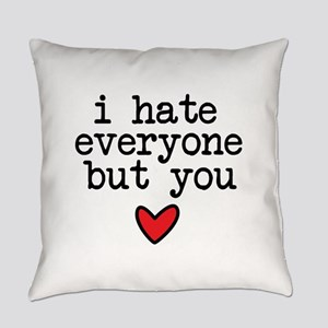 Hate Everyone Everyday Pillow