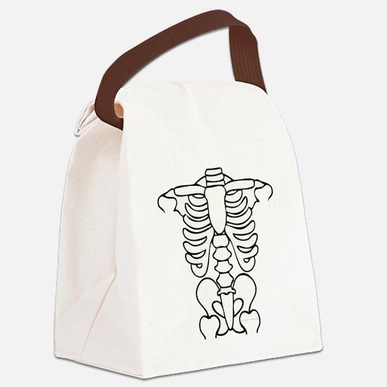 skeleton.gif Canvas Lunch Bag