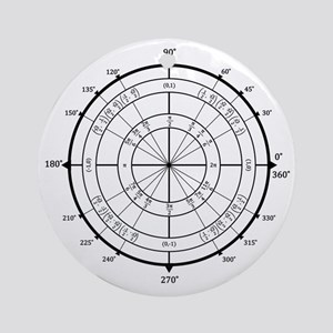 Unit-Circle-Transparent-2000x2000 Round Ornament