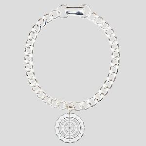 Unit-Circle-Transparent- Charm Bracelet, One Charm