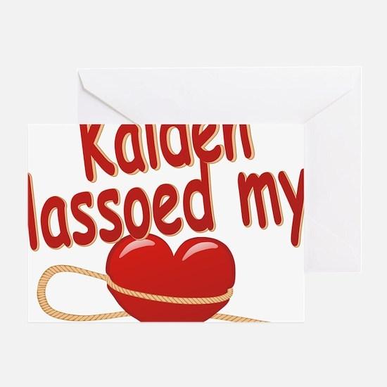 kaiden-b-lassoed Greeting Card