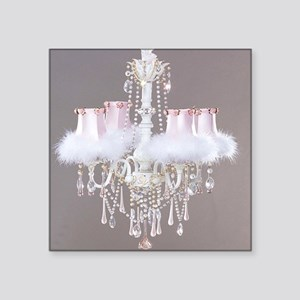 "Shabby-chic-chandelier Square Sticker 3"" x 3"""