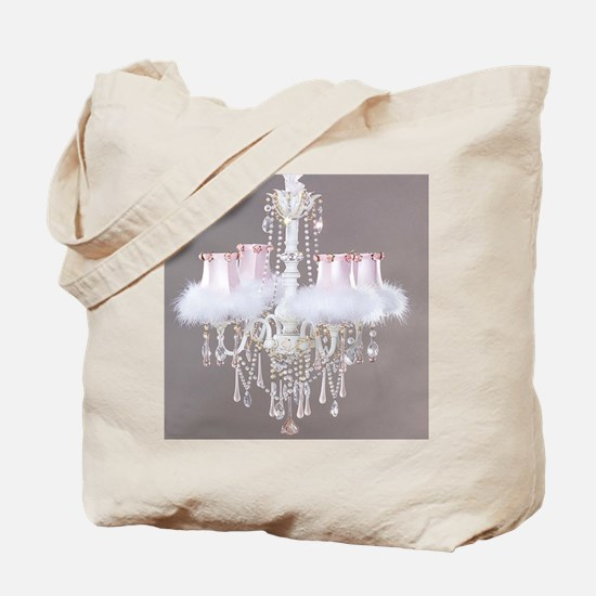 Shabby-chic-chandelier Tote Bag