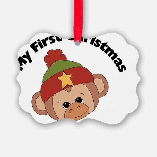 my first christmas boy monkey Ornament
