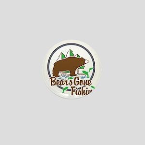 Bear's Gone Fishn' Mini Button