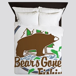Bear's Gone Fishn' Queen Duvet