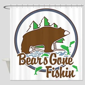 Bear's Gone Fishn' Shower Curtain