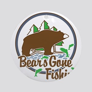 Bear's Gone Fishn' Round Ornament