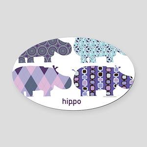 Purple Hip.Po Oval Car Magnet