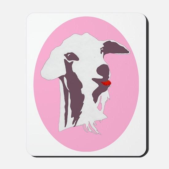 Buy a Goat Portrait in Grey Mousepad