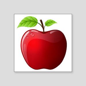 "apple Square Sticker 3"" x 3"""