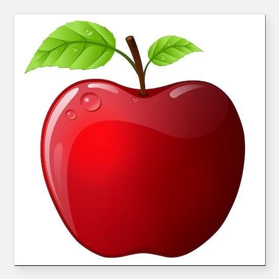 "apple Square Car Magnet 3"" x 3"""