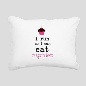 I run so I can EAT Cupca Rectangular Canvas Pillow