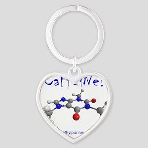 caffeine3 Heart Keychain