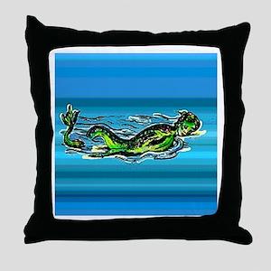 Mermaid Legends Throw Pillow
