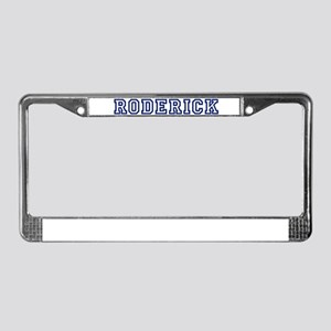 RODERICK University License Plate Frame