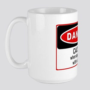 Caustic Rectangle Sticker Large Mug