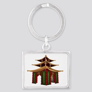 Temple Landscape Keychain